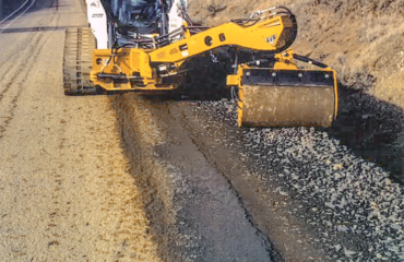 offset vibe roller - shoulder compaction
