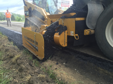 Road Widener compact track loader attachment