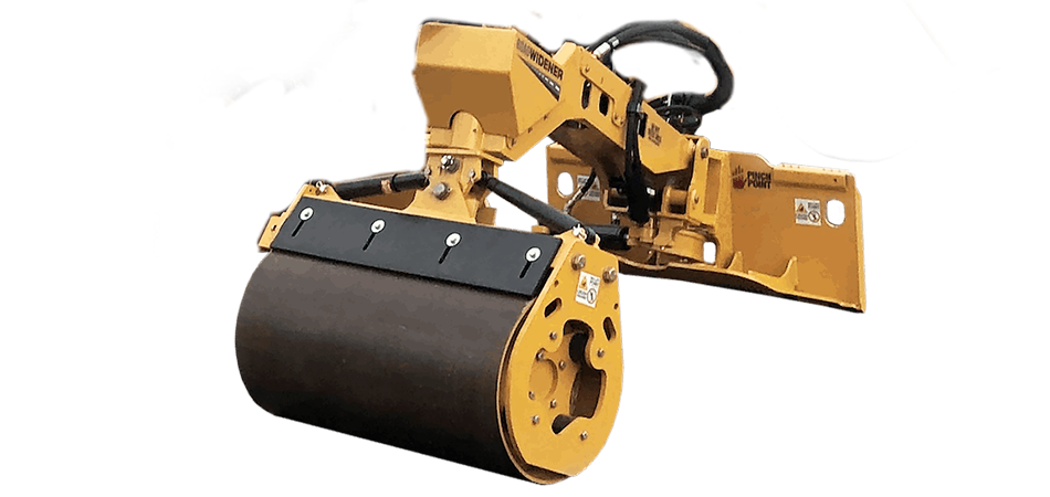 Offset vibratory roller attachment